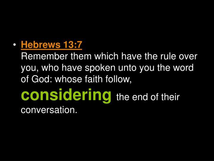 Hebrews 13:7