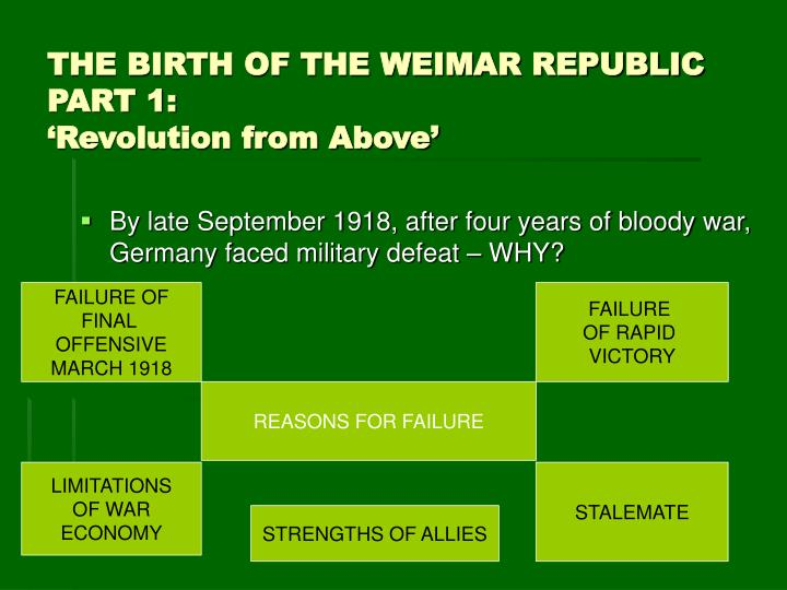 an analysis of the weimar republic Immediately download the weimar republic summary, chapter-by-chapter analysis, book notes, essays, quotes, character descriptions, lesson plans, and more - everything you need for studying or teaching weimar republic.