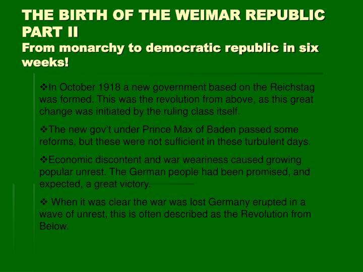 birth republic The birth of a republic vocabulary define: republic legion tarquins the birth of a republic republic formed the etruscans ruled rome for.