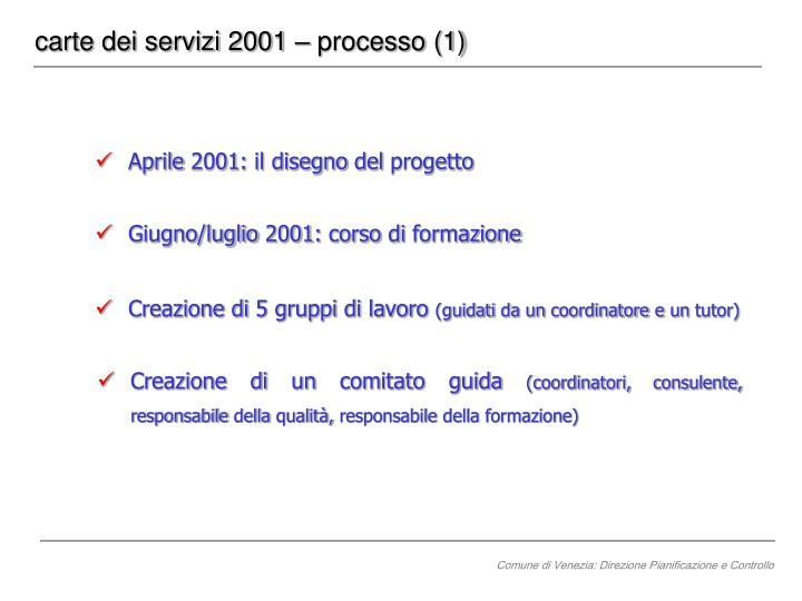 carte dei servizi 2001 – processo (1)