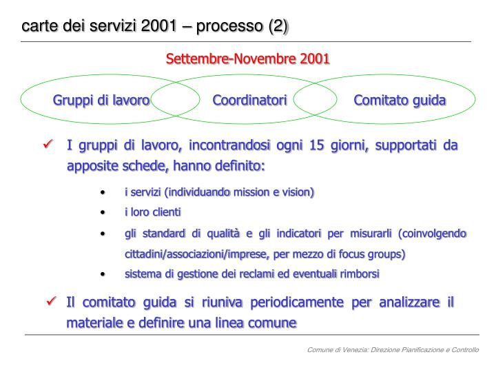 carte dei servizi 2001 – processo (2)
