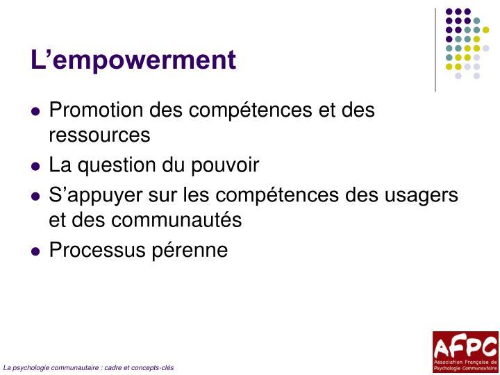 L'empowerment