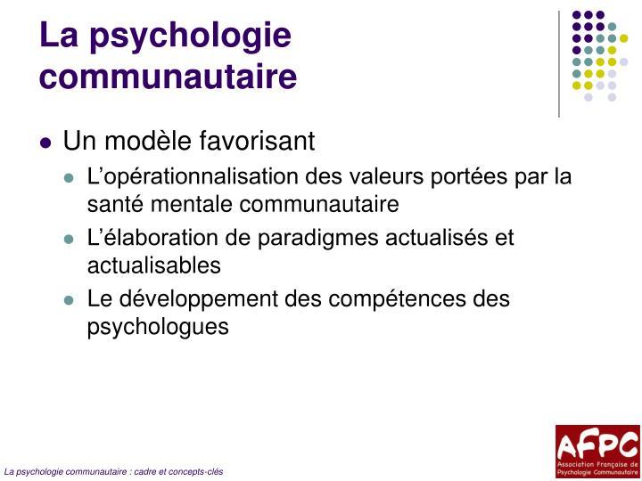 La psychologie communautaire
