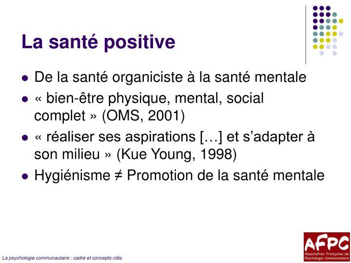 La santé positive
