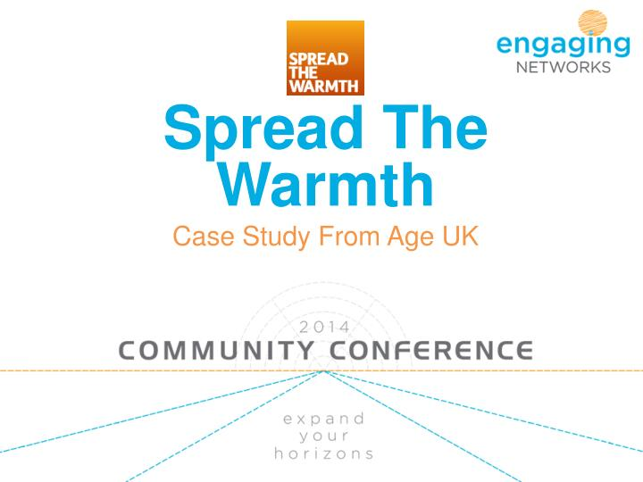 Spread the warmth case study from age uk