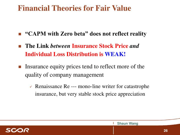 Financial Theories for Fair Value