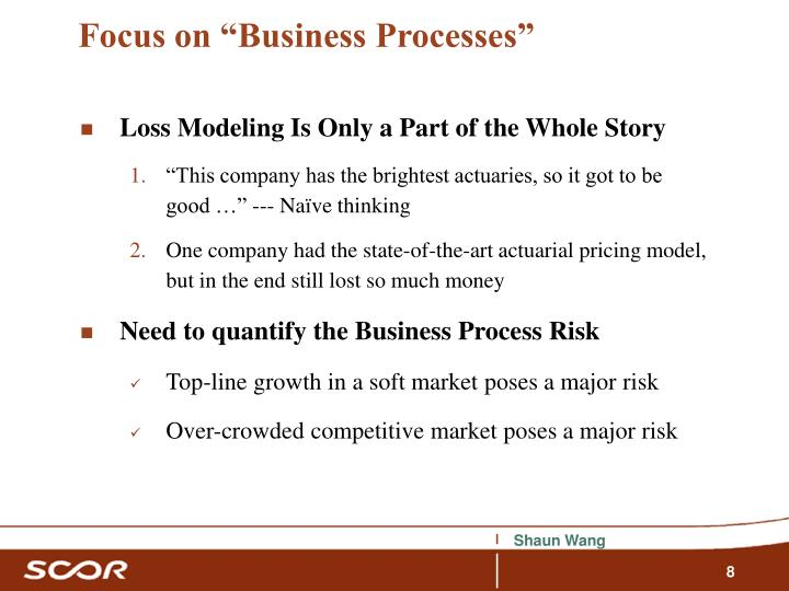 "Focus on ""Business Processes"""
