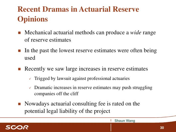Recent Dramas in Actuarial Reserve Opinions