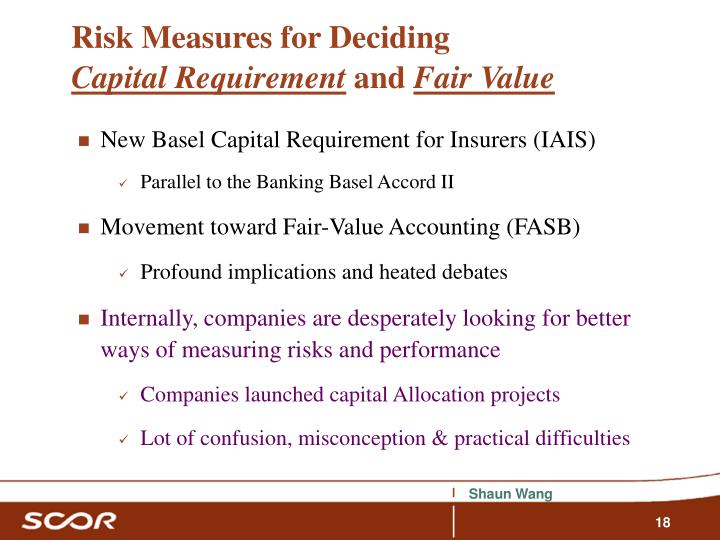 Risk Measures for Deciding
