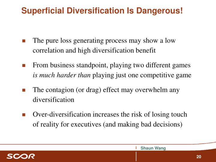Superficial Diversification Is Dangerous!