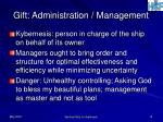 gift administration management