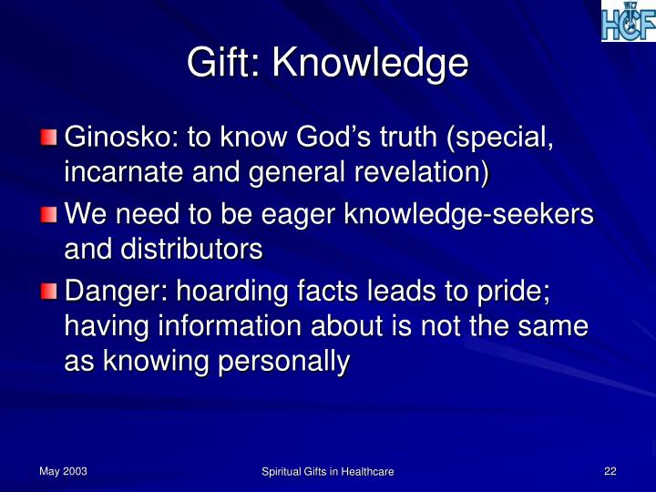 Gift: Knowledge