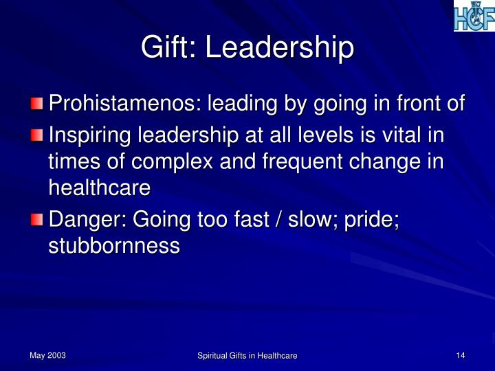Gift: Leadership