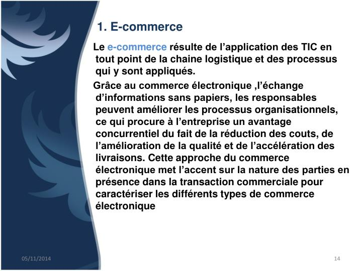 1. E-commerce
