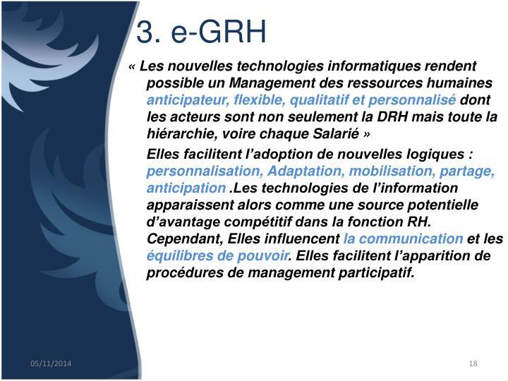 3. e-GRH