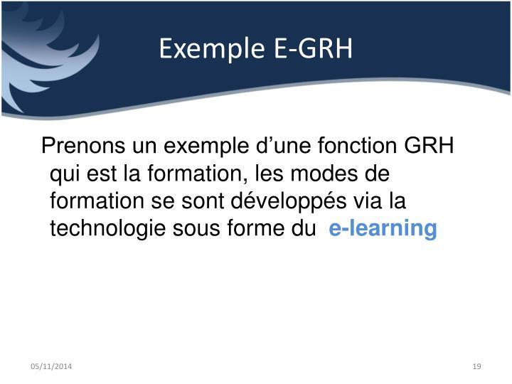 Exemple E-GRH