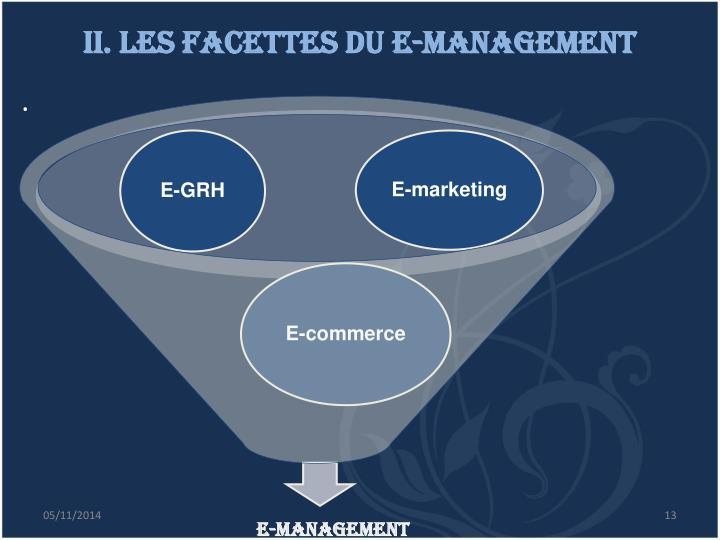 II. Les facettes du e-management