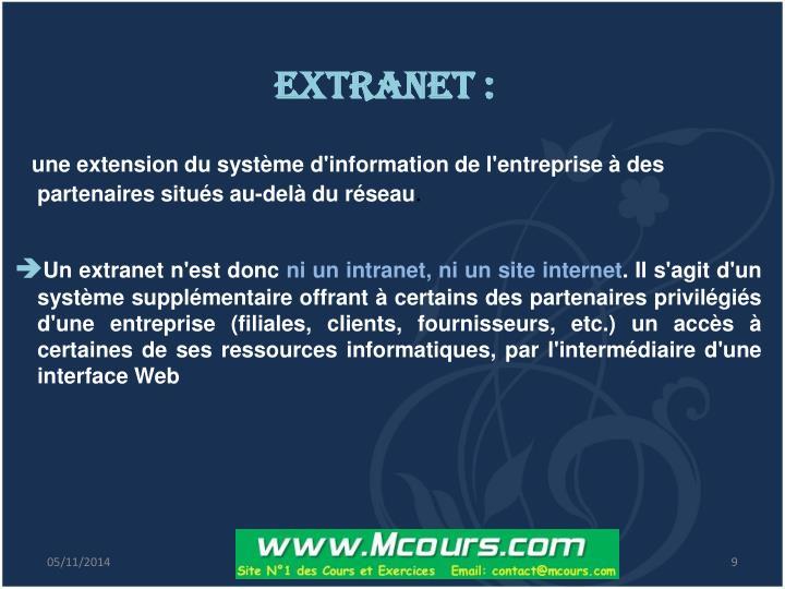Extranet :