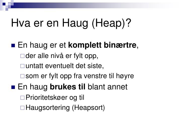 Hva er en Haug (Heap)?