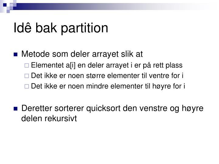 Idê bak partition