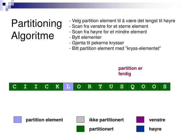 partition element
