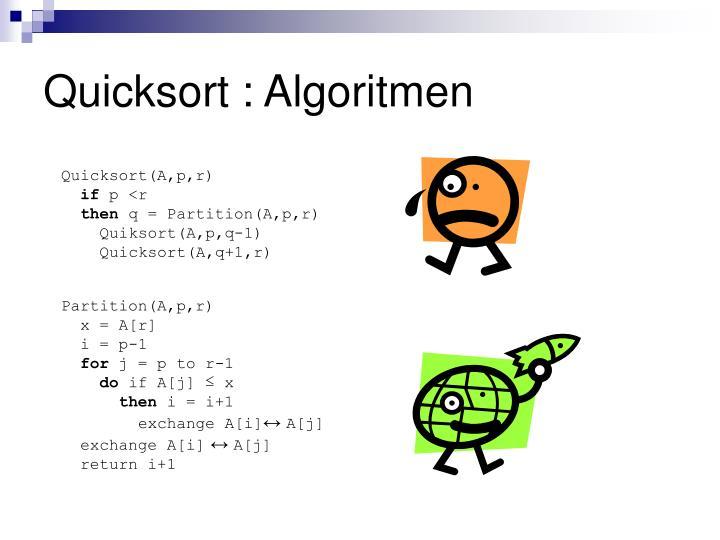 Quicksort : Algoritmen