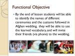 functional objective