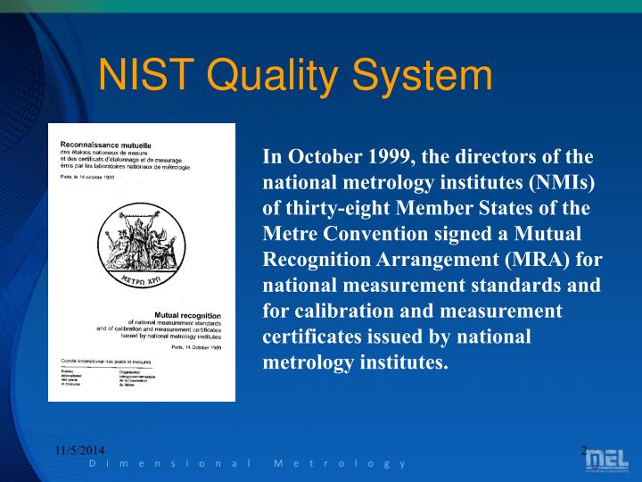 NIST Quality System