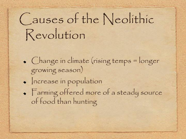 Causes of the Neolithic Revolution