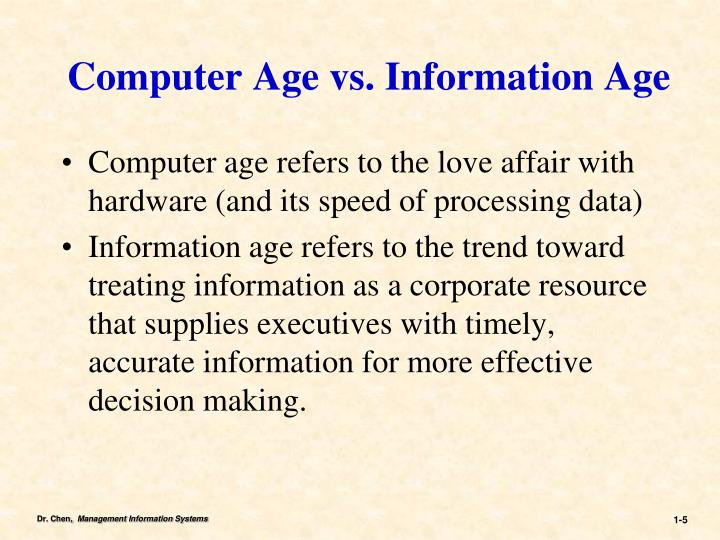 Computer Age vs. Information Age