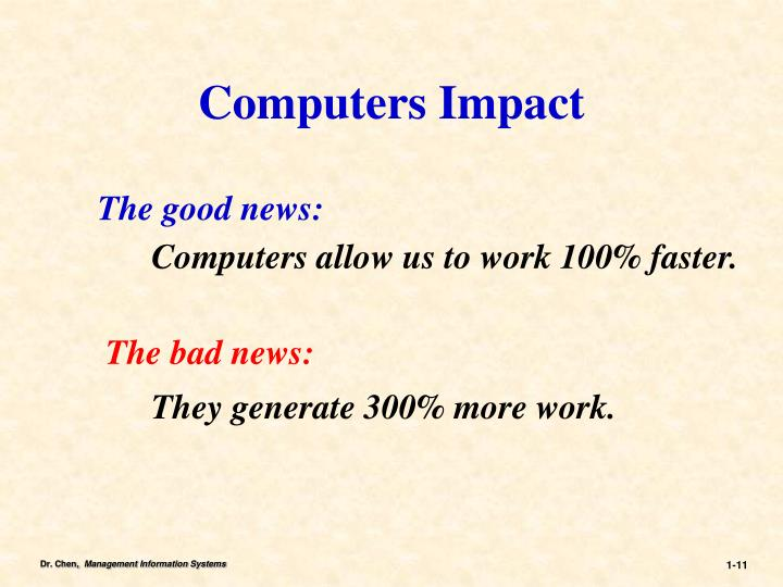 Computers Impact