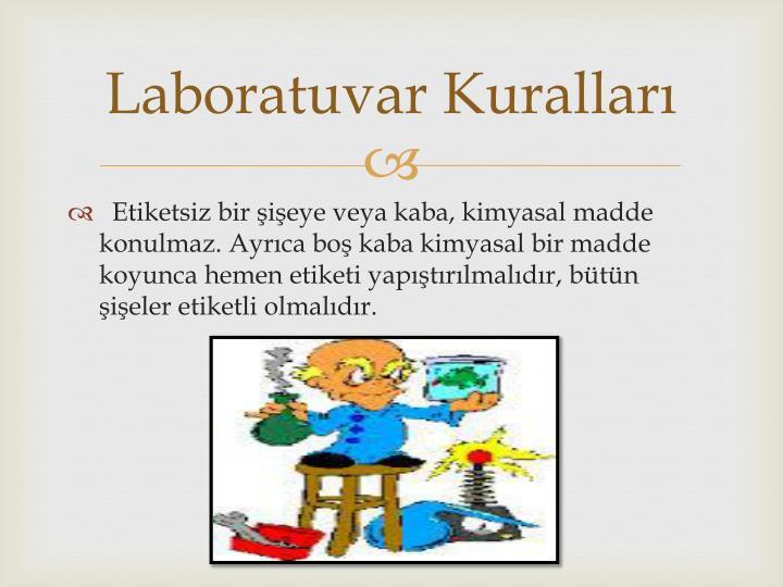 Laboratuvar Kuralları