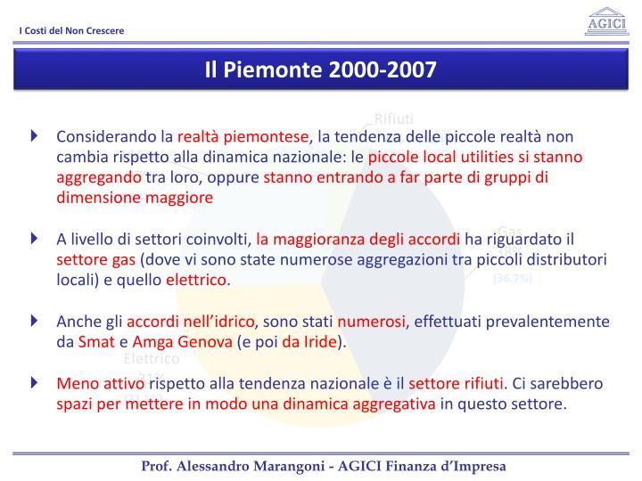 Il Piemonte 2000-2007
