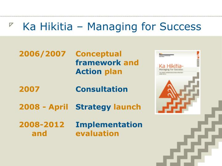Ka hikitia managing for success