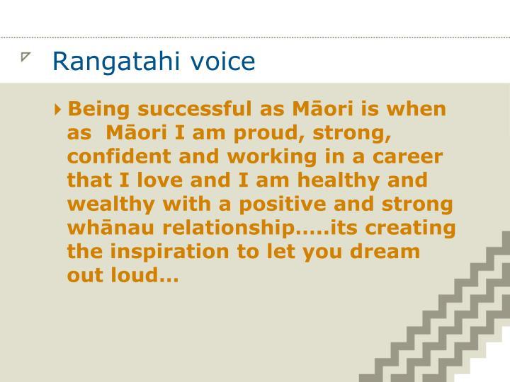 Rangatahi voice