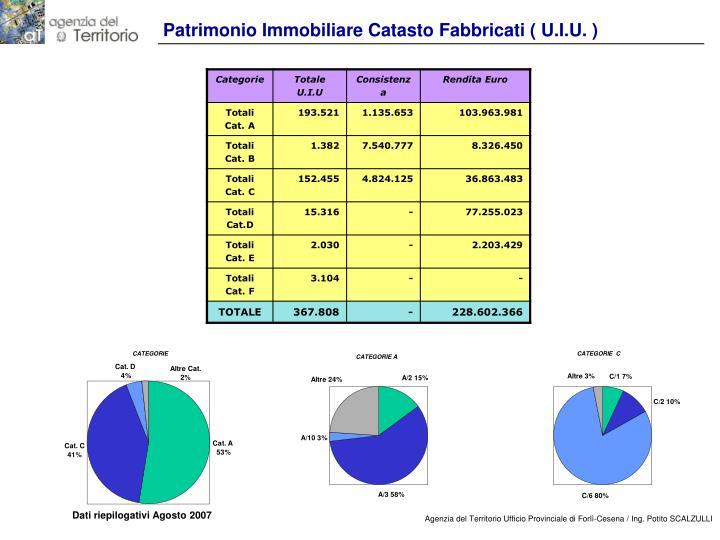 Patrimonio Immobiliare Catasto Fabbricati ( U.I.U. )
