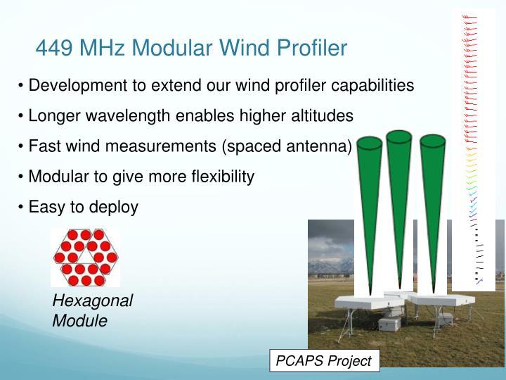 449 MHz Modular Wind Profiler