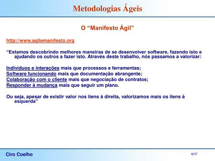 "O ""Manifesto Ágil"""