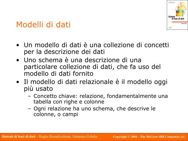Modelli di dati