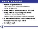 contractor approval