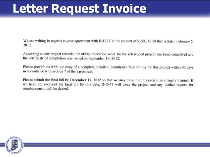 Letter Request Invoice