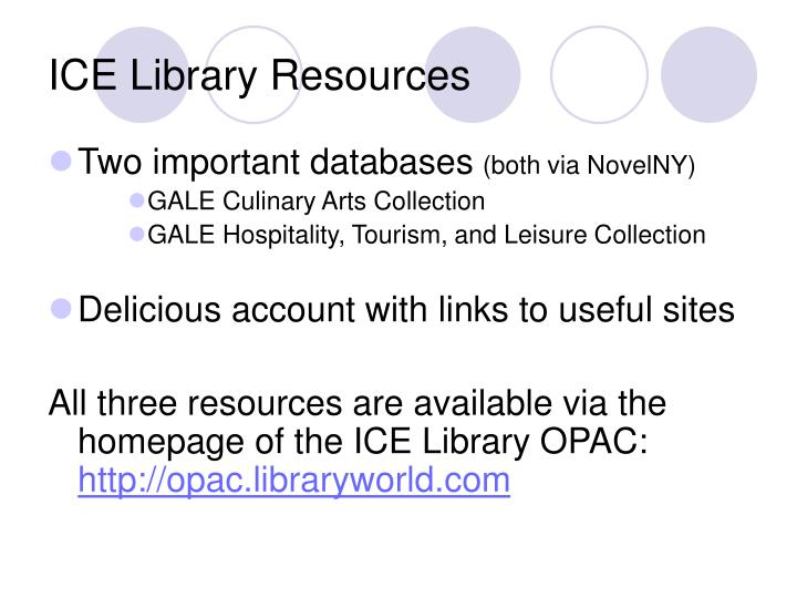 Ice library resources