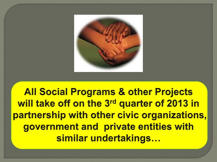 All Social Programs & other Projects