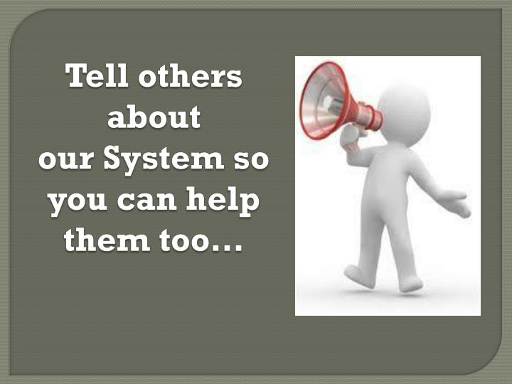Tell others about