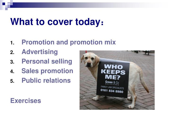 What to cover today