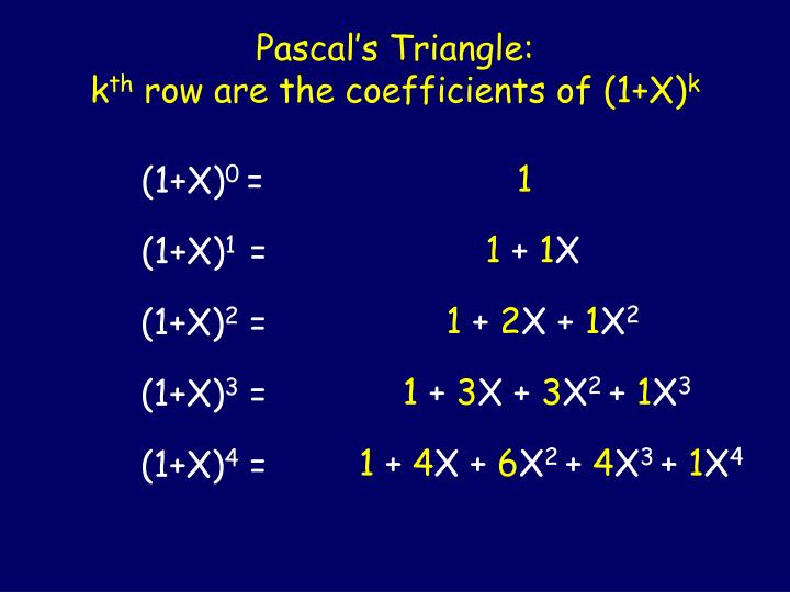 Pascal's Triangle: