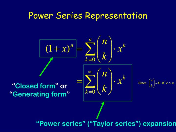 Power Series Representation