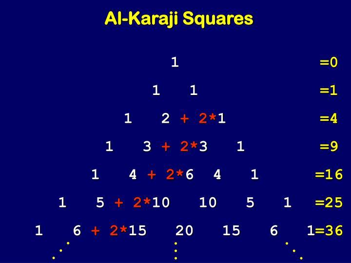 Al-Karaji Squares