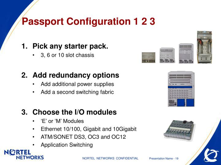 Passport Configuration 1 2 3