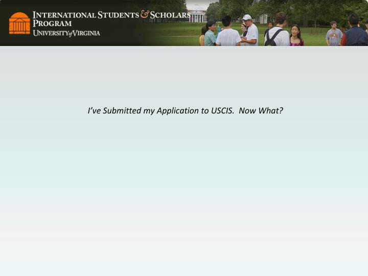 I've Submitted my Application to USCIS.  Now What?